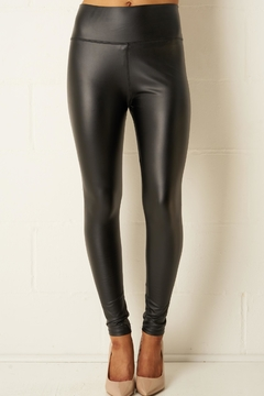 frontrow Black Faux-Leather Leggings - Product List Image