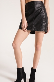 Others Follow  Black Faux Leather Skirt - Product Mini Image