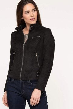 Shoptiques Product: black faux suede moto jacket