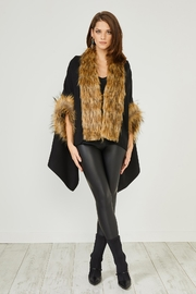 Urban Touch Black Fauxfur Trimcoat - Product Mini Image