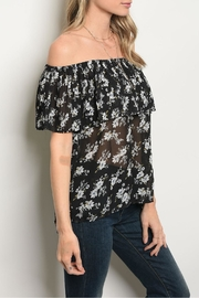 Alythea Black Floral Blouse - Side cropped