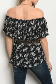 Alythea Black Floral Blouse - Front full body