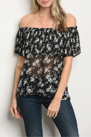 Alythea Black Floral Blouse - Product Mini Image