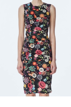 Nicole Miller Black Floral Dress - Alternate List Image