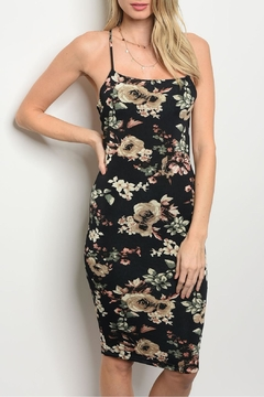 Lac Bleu Black Floral Dress - Product List Image