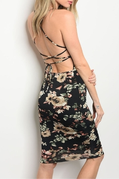 Lac Bleu Black Floral Dress - Alternate List Image