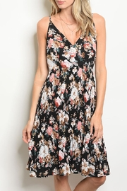 Esley Black Floral Dress - Product Mini Image