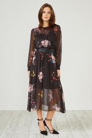 Urban Touch Black Floral Dress - Product Mini Image
