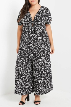Shoptiques Product: Black Floral Jumpsuit