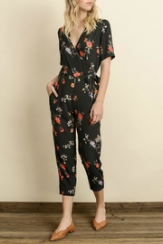dress forum Black Floral Jumpsuit - Product Mini Image