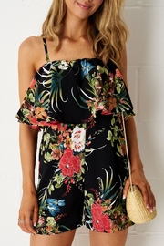 frontrow Black-Floral Layer Playsuit - Product Mini Image