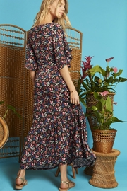 Onjenu Black Floral Maxi - Back cropped
