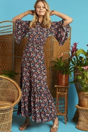 Onjenu Black Floral Maxi - Side cropped
