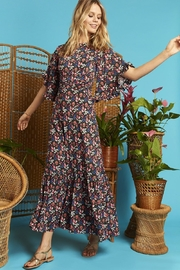 Onjenu Black Floral Maxi - Front full body