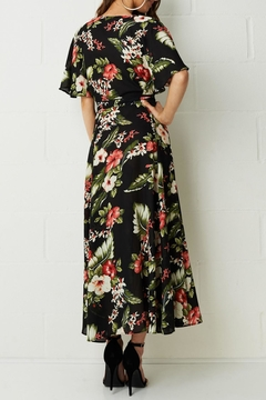 frontrow Black Floral-Maxi Dress - Alternate List Image