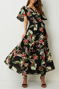 frontrow Black Floral-Maxi Dress - Product List Image