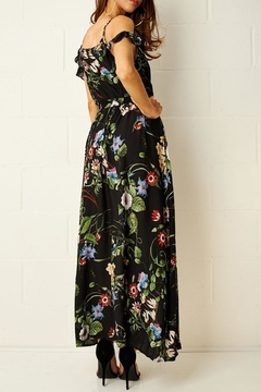 frontrow Black-Floral Maxi Dress - Alternate List Image