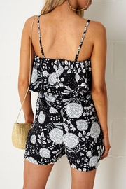 frontrow Black Floral Playsuit - Front full body