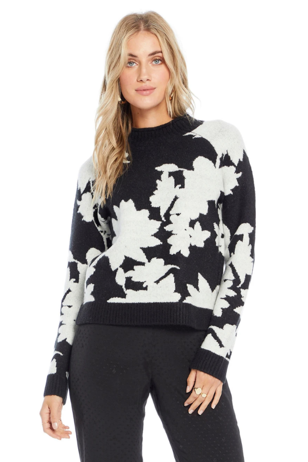 Saltwater Luxe BLACK FLORAL ROMANCE TOP - Main Image