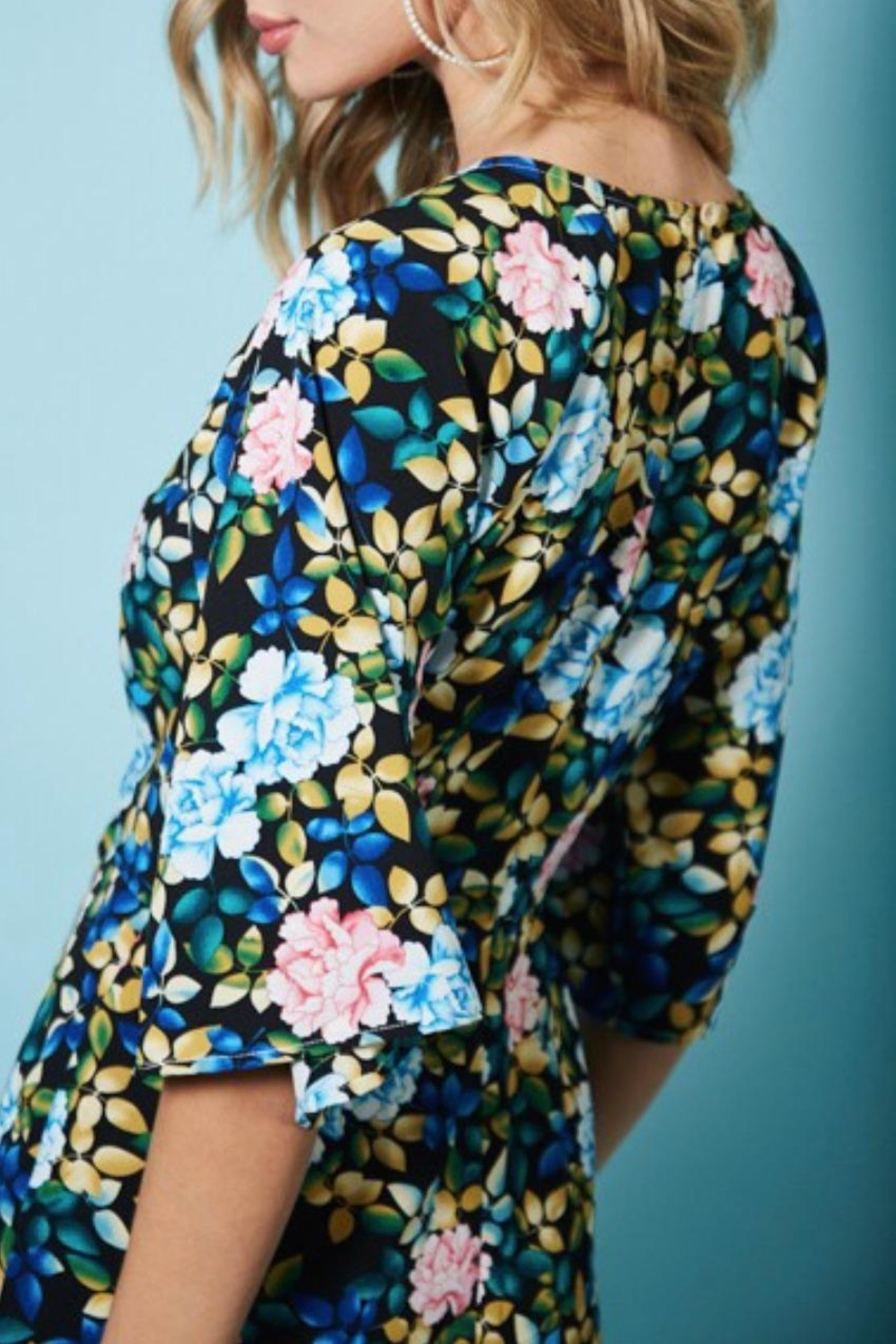 Available Black Floral Romper - Side Cropped Image