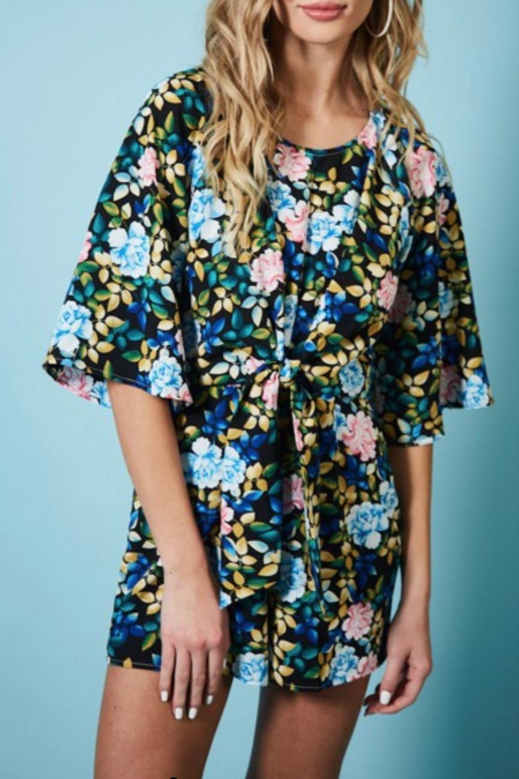 Available Black Floral Romper - Main Image