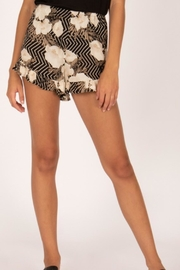 AMUSE SOCIETY Black Floral Shorts - Product Mini Image