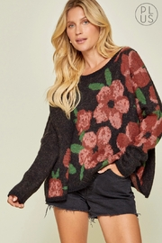Andree by Unit Black Floral Sweater - Product Mini Image