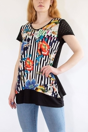 Zoey Black Floral T-Shirt - Product Mini Image