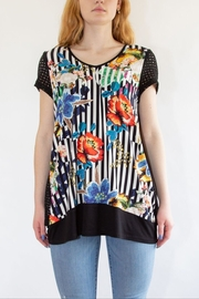 Zoey Black Floral T-Shirt - Front full body