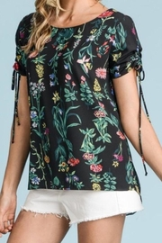 Les Amis Black Floral Top - Product Mini Image