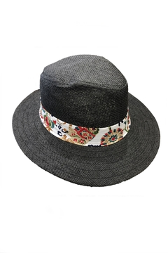 Love of Fashion Black Flower Sunhat - Product List Image