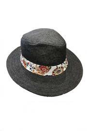 Love of Fashion Black Flower Sunhat - Product Mini Image