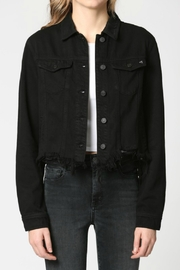 Hidden Jeans Black Frayed Bottom Fitted Jacket - Product Mini Image