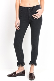 just black Black Frayed Jeans - Product Mini Image
