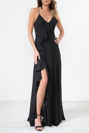 Urban Touch Black Frilldetailstrappedback Maxidress - Product Mini Image