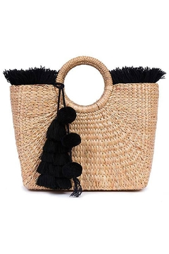 Jadetribe Black Fringe Basket - Product List Image