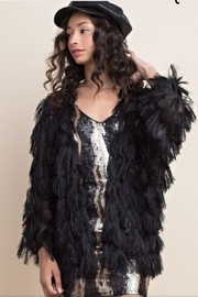 Chloah Black Fringe Jacket - Product Mini Image