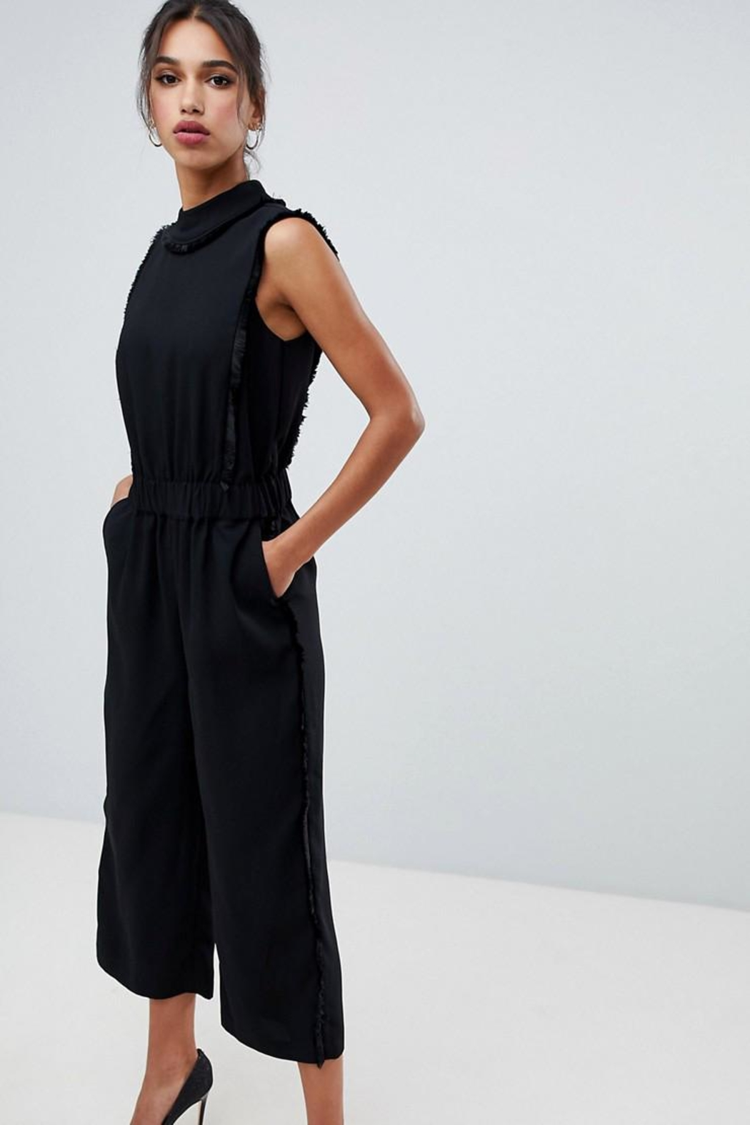 0ca10b112bd Ted Baker Black Fringe Jumpsuit from Wallingford by The Dressing ...