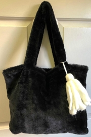 Bedford Basket Black Fur Tote - Product Mini Image