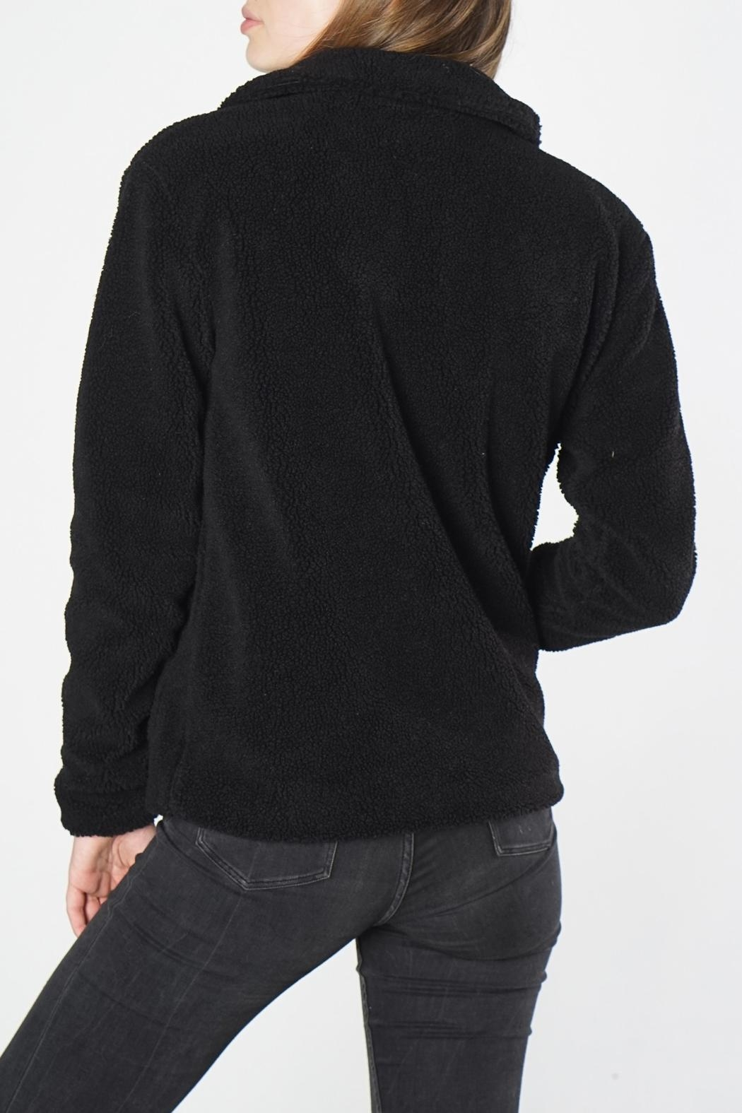 Mod Ref Black Fuzzy Jacket - Side Cropped Image