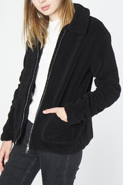 Mod Ref Black Fuzzy Jacket - Front full body
