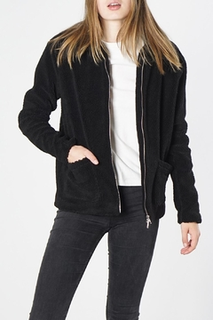 Mod Ref Black Fuzzy Jacket - Product List Image