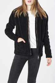 Mod Ref Black Fuzzy Jacket - Front cropped