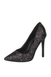 Delicacy Black Glitter Pumps - Front cropped