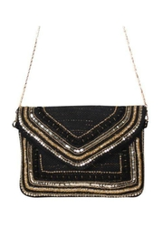 America & Beyond Black & Gold Clutch - Product Mini Image