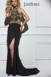 Tony Bowls Black Gold Gown - Product Mini Image