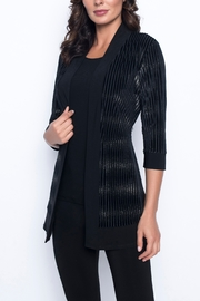 Frank Lyman Black & Gold Ribbed Cardigan - Product Mini Image