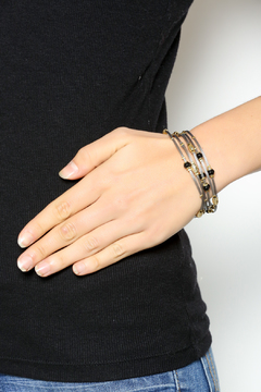 Shoptiques Product: Black Gold Stacking Bracelet