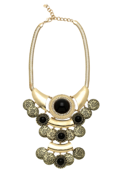 Shoptiques Product: Black Gold Statement Necklace