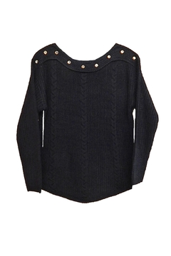 Vivid Black Gold Sweater - Product List Image